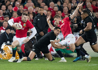 Elliot Daly during game 10 of the British and Irish Lions 2017 Tour of New Zealand, the third Test match between  The All Blacks and British and Irish Lions, Eden Park, Auckland, Saturday 8th July 2017 (Photo by Kevin Booth Steve Haag Sports)  Images for social media must have consent from Steve Haag