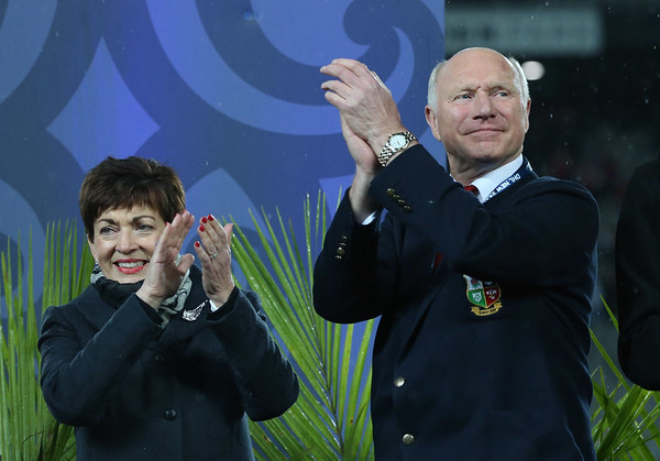 Patsy Reddy and John Spencer during game 10 of the British and Irish Lions 2017 Tour of New Zealand, the third Test match between  The All Blacks and British and Irish Lions, Eden Park, Auckland, Saturday 8th July 2017 (Photo by Kevin Booth Steve Haag Sports)  Images for social media must have consent from Steve Haag