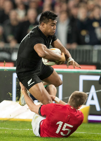 Julian Savea  during game 10 of the British and Irish Lions 2017 Tour of New Zealand, the third Test match between  The All Blacks and British and Irish Lions, Eden Park, Auckland, Saturday 8th July 2017 (Photo by Kevin Booth Steve Haag Sports)  Images for social media must have consent from Steve Haag