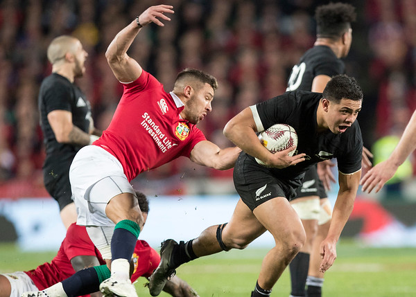 Anton Lienert-Brown during game 10 of the British and Irish Lions 2017 Tour of New Zealand, the third Test match between  The All Blacks and British and Irish Lions, Eden Park, Auckland, Saturday 8th July 2017 (Photo by Kevin Booth Steve Haag Sports)  Images for social media must have consent from Steve Haag