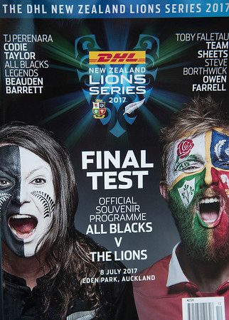 during game 10 of the British and Irish Lions 2017 Tour of New Zealand, the third Test match between  The All Blacks and British and Irish Lions, Eden Park, Auckland, Saturday 8th July 2017 (Photo by Kevin Booth Steve Haag Sports)  Images for social media must have consent from Steve Haag