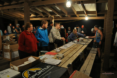 Eastern States 100: registration and pre-race activities at Little Pine State Park.