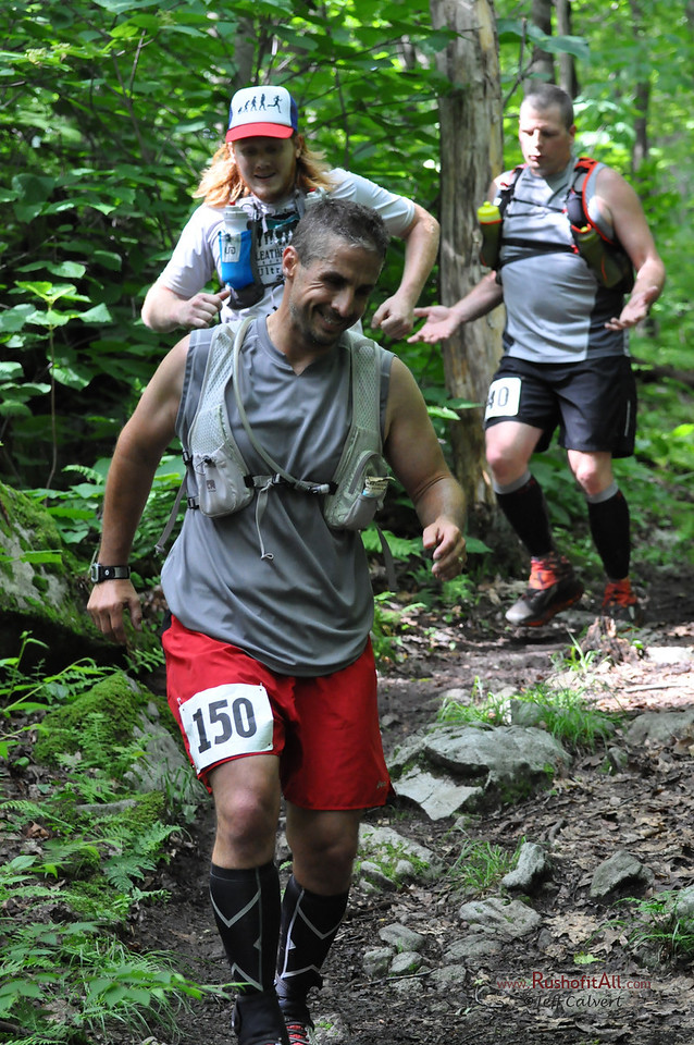 Near CP1 (Rt. 653) during the Laurel Highlands Ultra: a 70.2-mile footrace (and 70.2-mile relay, 50K, and 50K relay) on the Laurel Highlands Hiking Trail from Ohiopyle, PA to Seward, PA, on June 14, 2014.