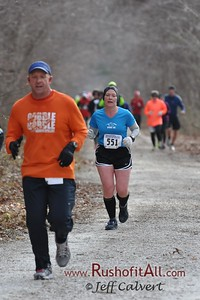 Northern Central Rail Trail Marathon, Nov 30, 2013, near mile 11 aid station