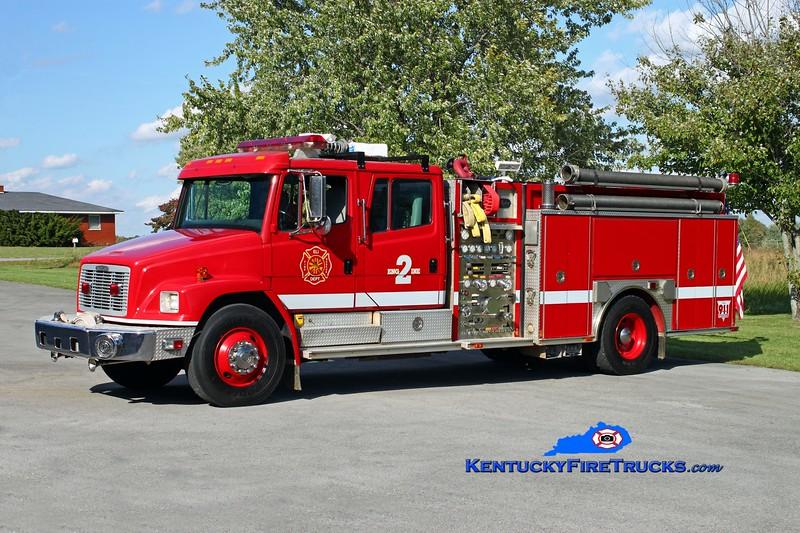 <center> Eli  Engine 2 <br> 1994 Freightliner FL80/Pierce/Allegheny 1500/1000 <br> Kent Parrish photo <br> </center>