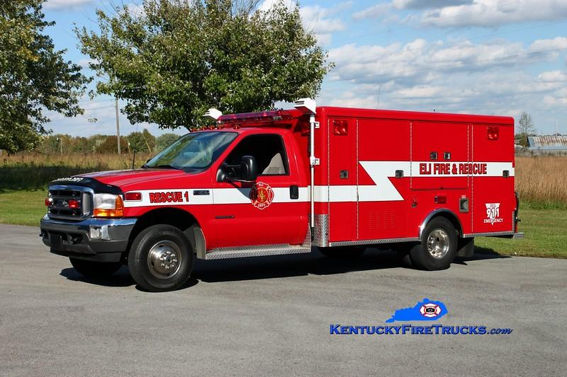<center> Eli  Rescue 1 <br> 2004 Ford F-350/McCoy Miller <br> Kent Parrish photo <br> </center>