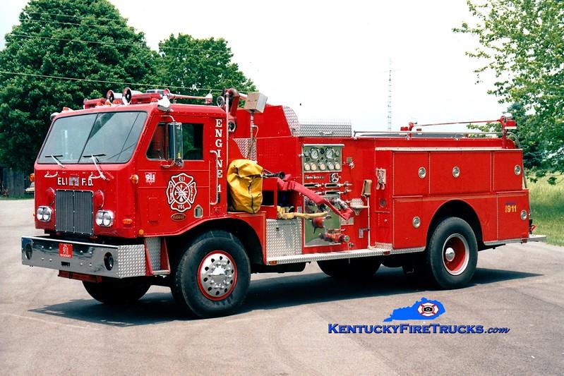 <center> RETIRED <br> Eli  Engine 11 <br> x-Fairfield, OH <br> 1976 Peterbilt CB200/Sutphen 1000/750 <br> Greg Stapleton photo <br> </center>