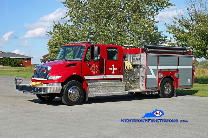<center> Eli  Engine 1 <br> 2007 International 4400/Pierce 1250/1000 <br> Kent Parrish photo <br> </center>
