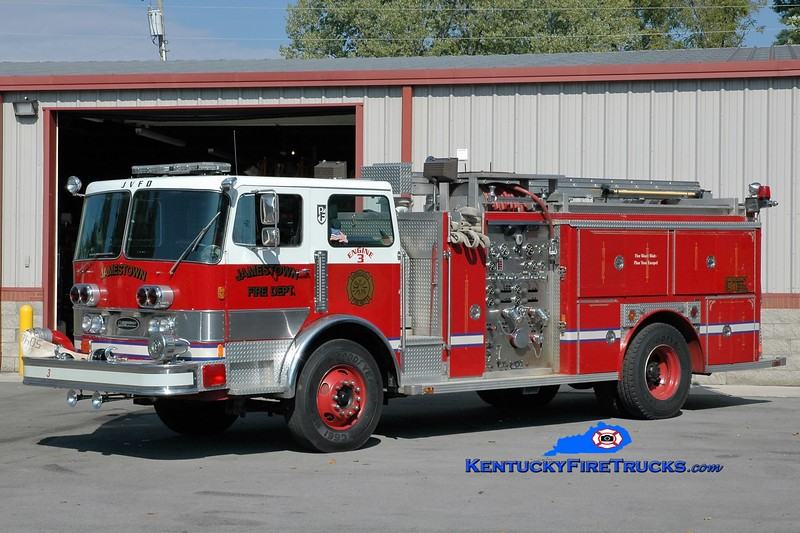 Jamestown  Engine 3<br /> x-Okolona, KY<br /> 1982 Pemfab/E-One 1500/750<br /> Greg Stapleton photo