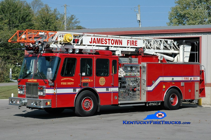 Jamestown  Ladder 9<br /> x-Newburgh, IN<br /> 1993 Simon-Duplex/LTI 2000/300/75'<br /> Greg Stapleton photo