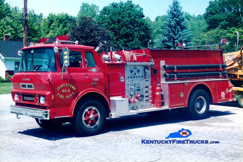 <center> RETIRED <br> Jamestown  Engine 6 <br> 1980 GMC TC6500/Grumman 1000/750 <br> Greg Stapleton photo <br> </center>
