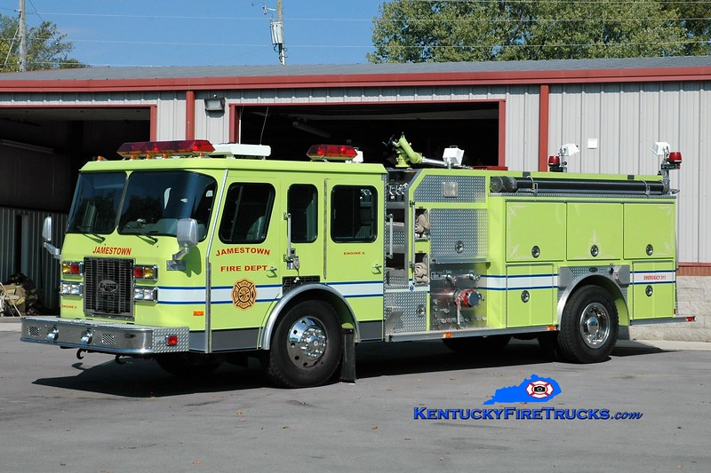 Jamestown  Engine 6<br /> x-Ohio Twp, IN<br /> 1993 E-One Protector TC 1250/1000<br /> Greg Stapleton photo
