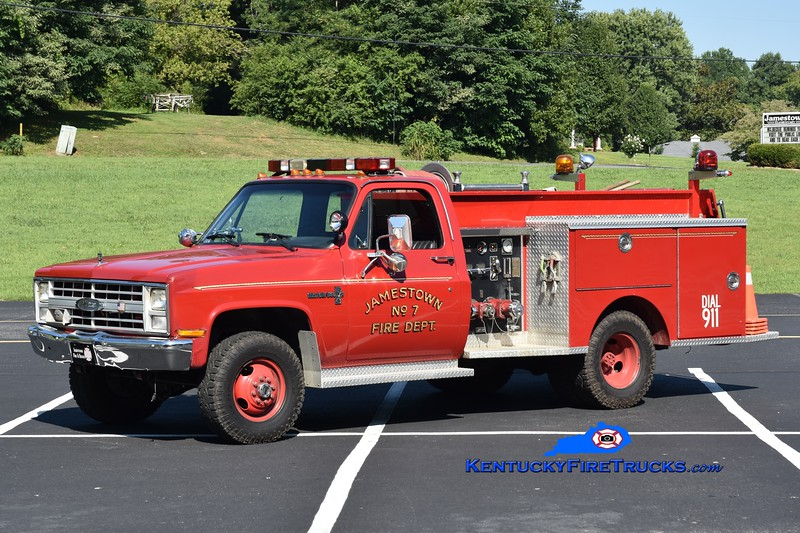 Jamestown Engine 7<br /> 1987 Chevy K30 4x4/Pierce 400/250<br /> Greg Stapleton photo