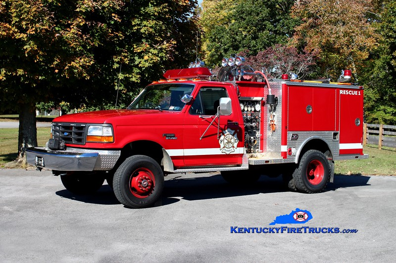 <center> South Russell Rescue 1 <br> 1993 Ford SD 4x4/3D 250/250 <br> Kent Parrish photo </center>