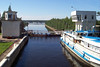 The lower lock of Svir (Syväri), Karelia, Russia