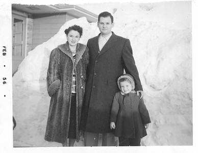 Mom and Dad and Sister Diane 1956