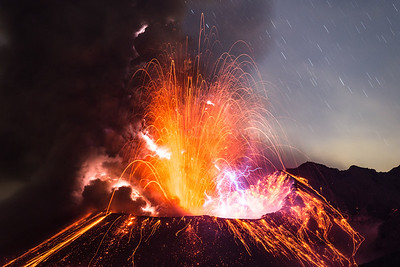Eruption with lightnings
