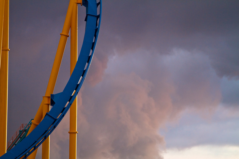 The threat of thunderstorms closed Six Flags for the day.