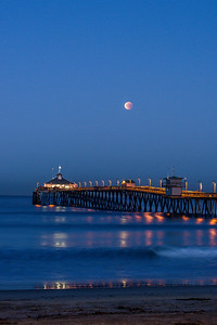 Imperial Beach Pier Moonset