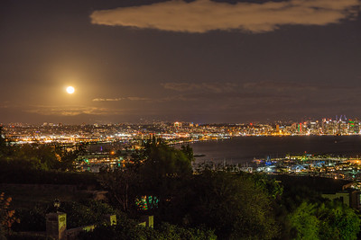 San Diego Bay Christmas Full Moon 2015