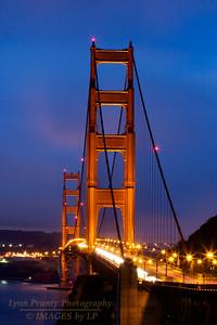 GGB/SF-120625-0004 The Golden Gate Bridge at Dusk