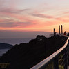 171210-SF-GGB-0009<br /> Sunset Looking across the Golden Gate and Guard Rail