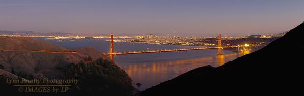 SF/GGB-131207-0001 San Fransisco and Golden Gate Bridge Pano 1
