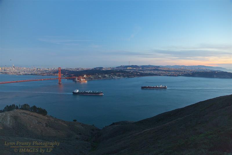 171210-SF-GGB-0011<br /> Golden Gate Bridge and Cargo Ship #3