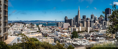 San Francisco view from Russian Hill