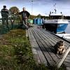 Yngve och Roland Stolpe, fiskare, Söderudden-Kalastajat-Fishermen
