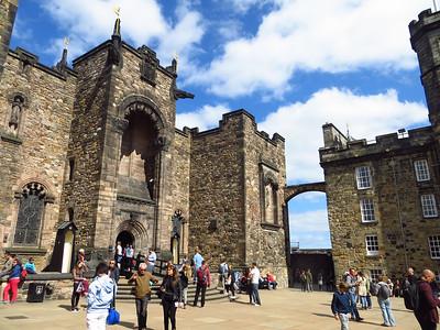 Inside Edinburgh Castle.