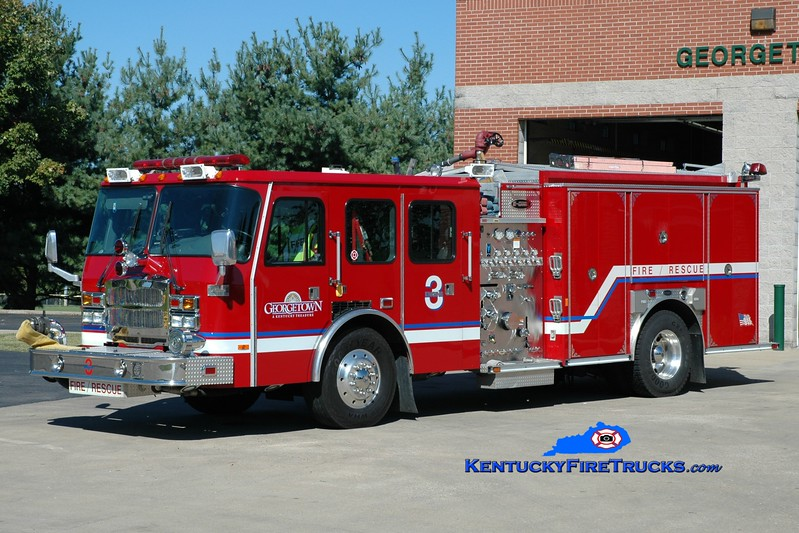 <center> Georgetown  Reserve Engine  <br> x-Engine 3 <br> 2005 E-One Typhoon 1250/750  <br> Greg Stapleton photo </center>