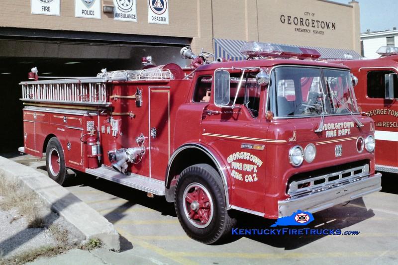 RETIRED<br /> Georgetown Engine 2<br /> 1975 Ford/Jaco 1000/500<br /> Greg Stapleton photo
