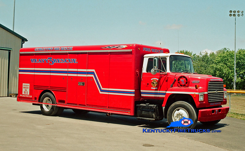<center> RETIRED <br> Georgetown  Rescue 3  <br> 1994 Ford L7000/Hackney   <br> Greg Stapleton photo </center>