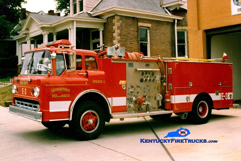 <center> RETIRED <BR> Georgetown  Engine 3  <br> 1975 Ford/Jaco 1000/500 <br> Greg Stapleton photo </center>