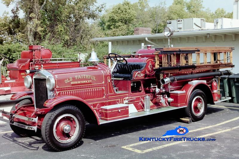 RETIRED<br /> Georgetown Engine 1<br /> 1930 Ahrens-Fox 1000/200<br /> Greg Stapleton photo