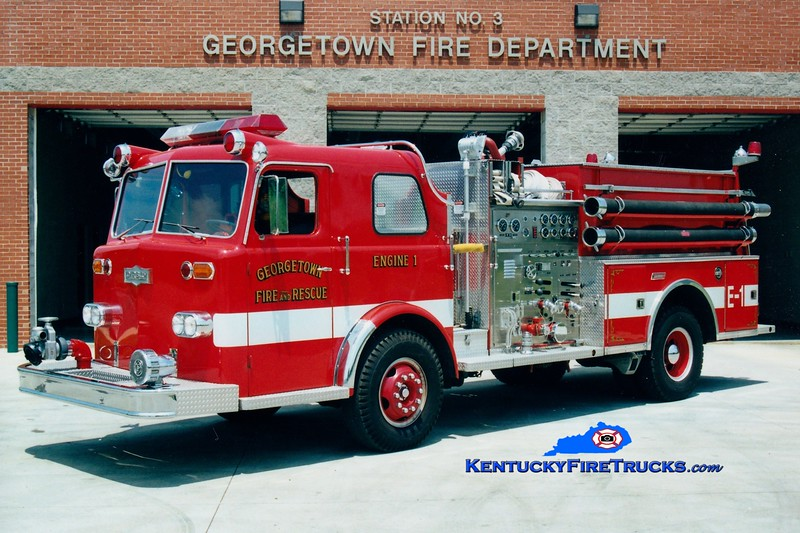 <center> RETIRED <br> Georgetown  Engine 1  <br> 1966 Pirsch/1986 Summit 1250/500   <br> Greg Stapleton photo </center>