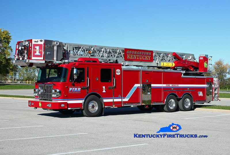 Georgetown  Truck 1<br /> 2014 Spartan Gladiator ERV 100' <br /> Kent Parrish photo