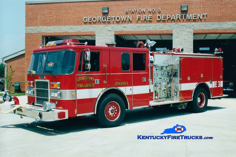 <center> RETIRED <br> Georgetown  Engine 3<br> 1994 Pierce Lance 1250/500 <br> Greg Stapleton photo </center>