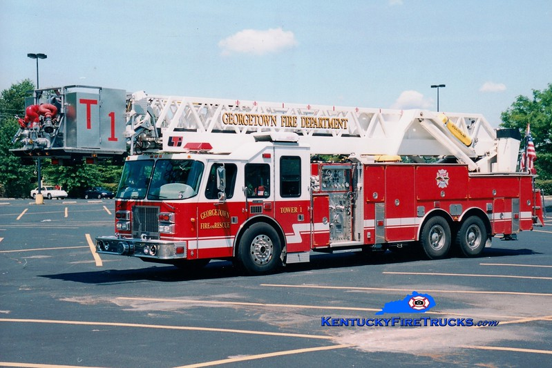 <center> RETIRED <br> Georgetown  Tower 1  <br> 1997 Simon-Duplex/LTI 2000/300/102'  <br> Greg Stapleton photo </center>