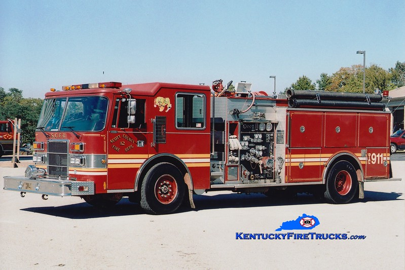 <center> RETIRED <br> Scott County  Engine 12  <br> 1992 Pierce Dash 1500/1000 <br> Greg Stapleton photo </center>