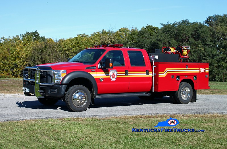<center> Scott County  Brush 1401  <br> 2014 Ford F-550 4x4/Knapheide/SCFD 250/250/10 <br> Kent Parrish photo </center>