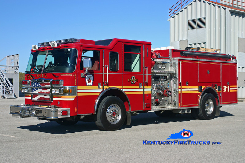 <center> Scott County  Engine 8  <br> 2007 Pierce Dash 1500/1000 <br> Kent Parrish photo </center>