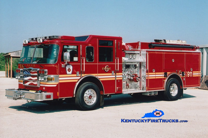<center> Scott County  Engine 6  <br> 2007 Pierce Dash 1500/1000 <br> Greg Stapleton photo </center>