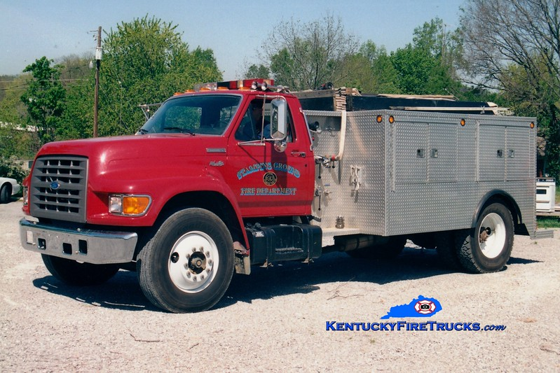 <center> Stamping Ground Ruritan  Engine 6  <br> 1995 Ford F/Local 450/1000 <br> Greg Stapleton photo </center>