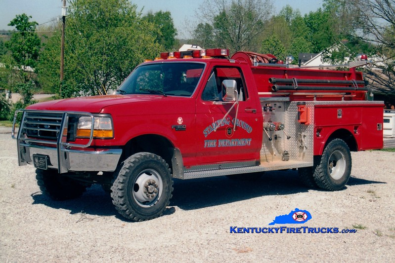 <center> Stamping Ground Ruritan  Engine 5  <br> 1995 Ford F-350 4x4/R&S 250/250 <br> Greg Stapleton photo </center>