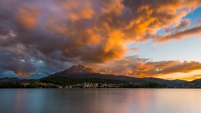 Golden sunset / Lucerne, Switzerland
