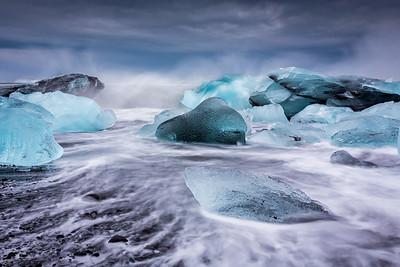 Blue ice / Jökulsárlón, Iceland