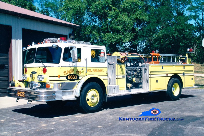 <center> RETIRED <br> East 60  Engine 6633  <br> x-Pleasure Ridge Park, KY <br> 1976 Imperial/Pierce 1250/500 <br> Greg Stapleton photo </center>