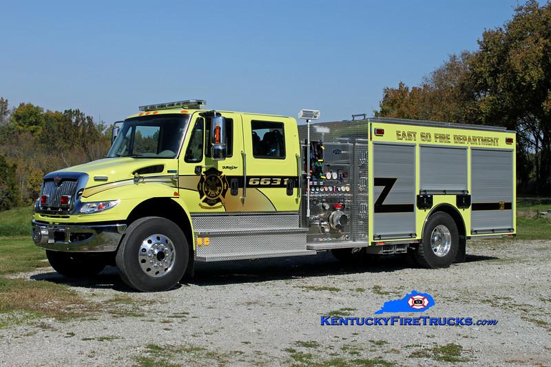 <center> East 60  Engine 6631  <br> 2011 International 4400/Toyne 1250/1000/20 <br> Kent Parrish photo </center>